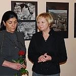 Córka W. Puchalskiego Anna Puchalska i Maria Jaglarz, dyrektor Muzeum Niepołomickiego