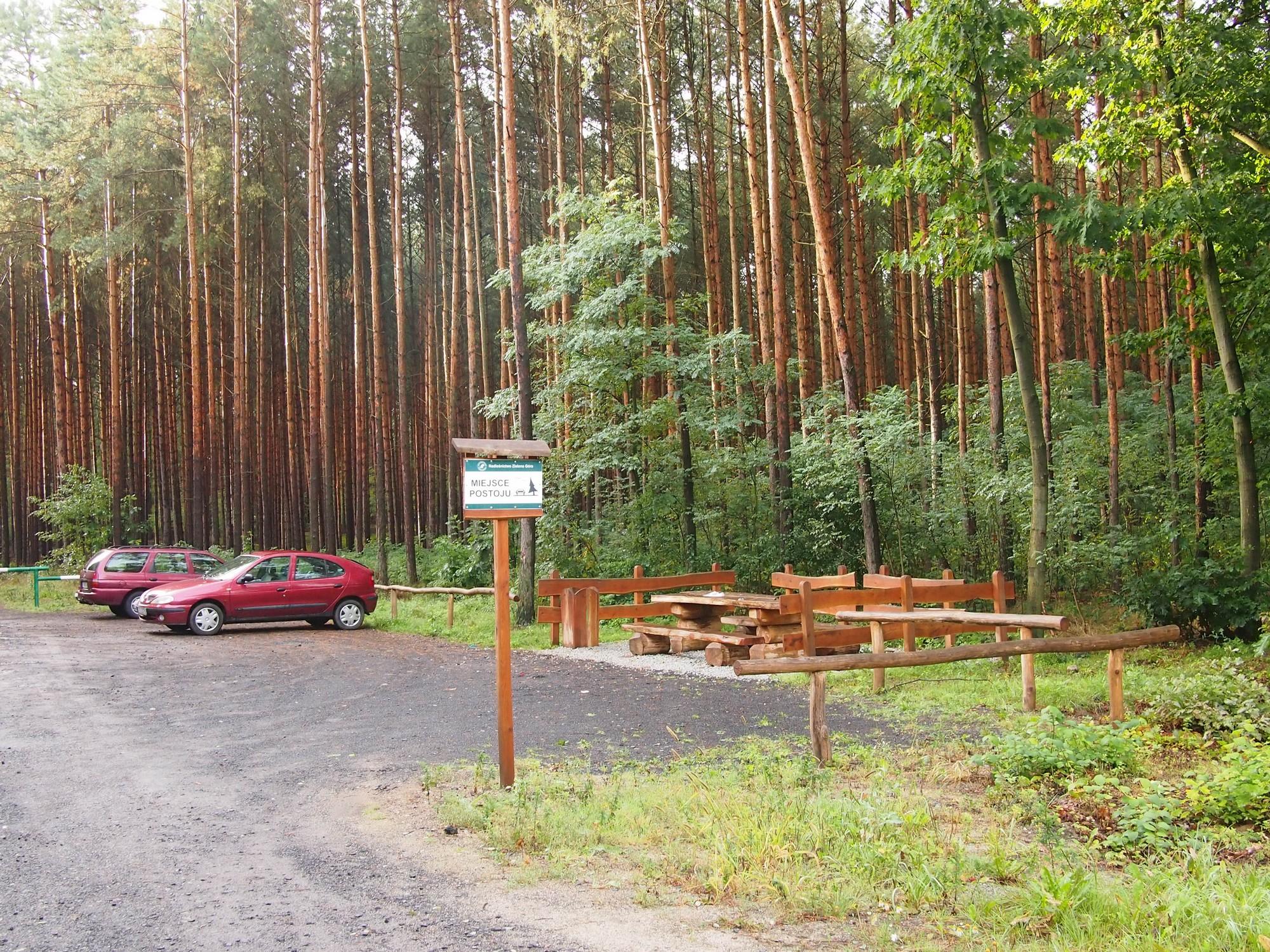 Parking leśny