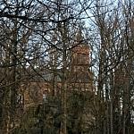 Kościół na szczycie Ślęży - w wieży widokowej