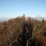 Kościół na szczycie Ślęży - z wieży widokowej