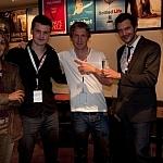 Tadeusz Baraniecki z obsługą Festiwalu. Pierwszy z lewej - John Kostenzer