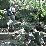 Sierpień 2009 szlak niebieski - kierunek od Prz. Tompadła na szczyt