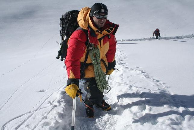 Grzegorz Michałek w Himalajach - fot. z archiwum Grzegorza Michałka