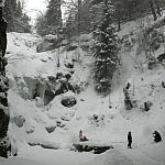 Wodospad Kamieńczyk zimą