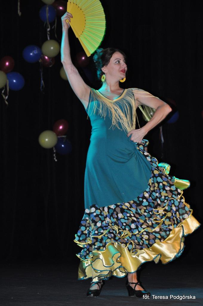 Wioletta Waldowska - flamenco podczas Festiwalu Tańca w ZSEA we Wrocławiu