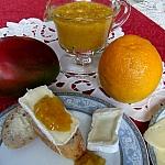 Chutney mango - kompozycja z serem camembert