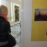 Wystawa po konkursowa na I piętrze auli Książnicy Beskidzkiej w Bielsku - Białej