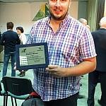 społecznik  i Prezes Bielskiego oddziału PTT Szymon Baron nagrodzony  za wkład w promowanie turystyki i walorów regionu