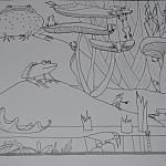 Żabawny blok rysunkowy
