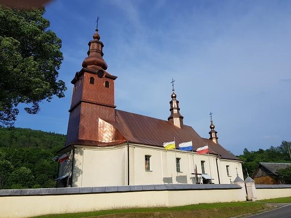 Tytułowy bohater projektu - podkowiec mały i kościół w Małastowie - jeden z licznych obiektów wyremontowanych dzięki projektowi ochrony nietoperzy